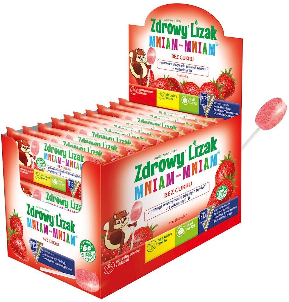 Lizak o smaku truskawkowym mniam-mniam bezglutenowy 6 g - starpharma