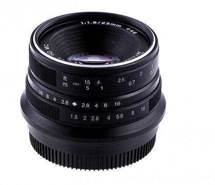 Obiektyw 7Artisans 25mm f/1,8 - mocowanie Sony-E (APS-C) - srebrny