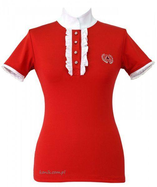 Koszula konkursowa CHARLOTTE damska - FAIR PLAY - czerwony