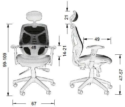 KB-8905 fotel gabinetowy - różne kolory