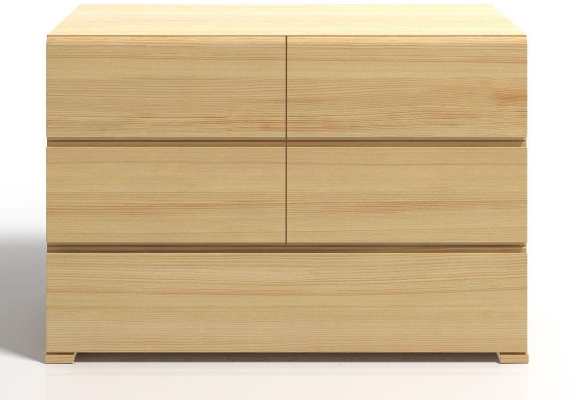Komoda drewniana z szufladami Verlos 4S - Sosna