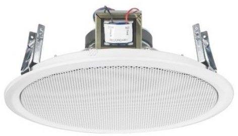 Monacor EDL-10TW/WS - Głośnik sufitowy PA, 100V, biały