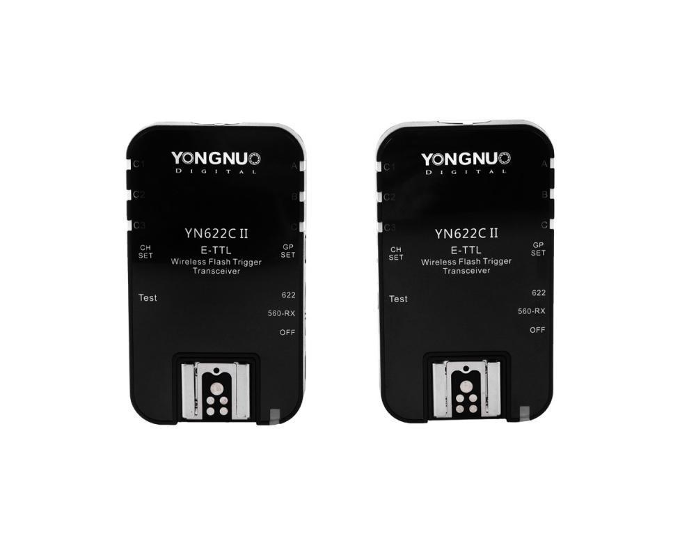 Yongnuo YN622C II - zestaw dwóch wyzwalaczy radiowych do lamp systemowych i studyjnych Canon Yongnuo YN622C II