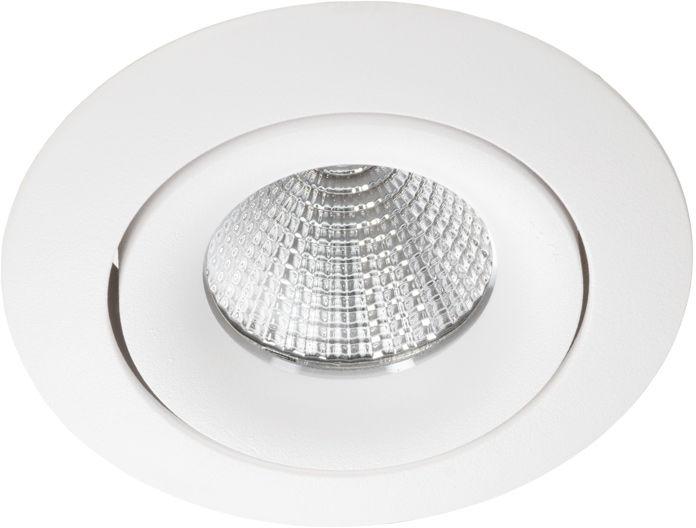 Oprawa sufitowa wpuszczana OVALO R nowoczesna oprawa okrągła biała Lumifall