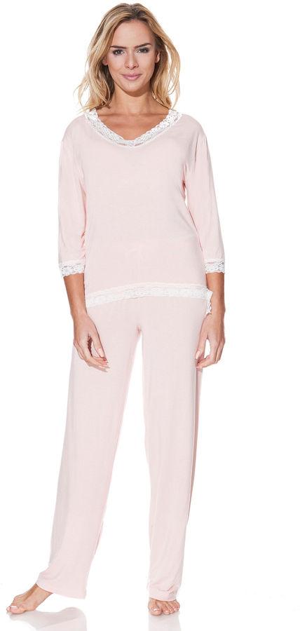 Damska bambusowa piżama ROZALIE Różowy