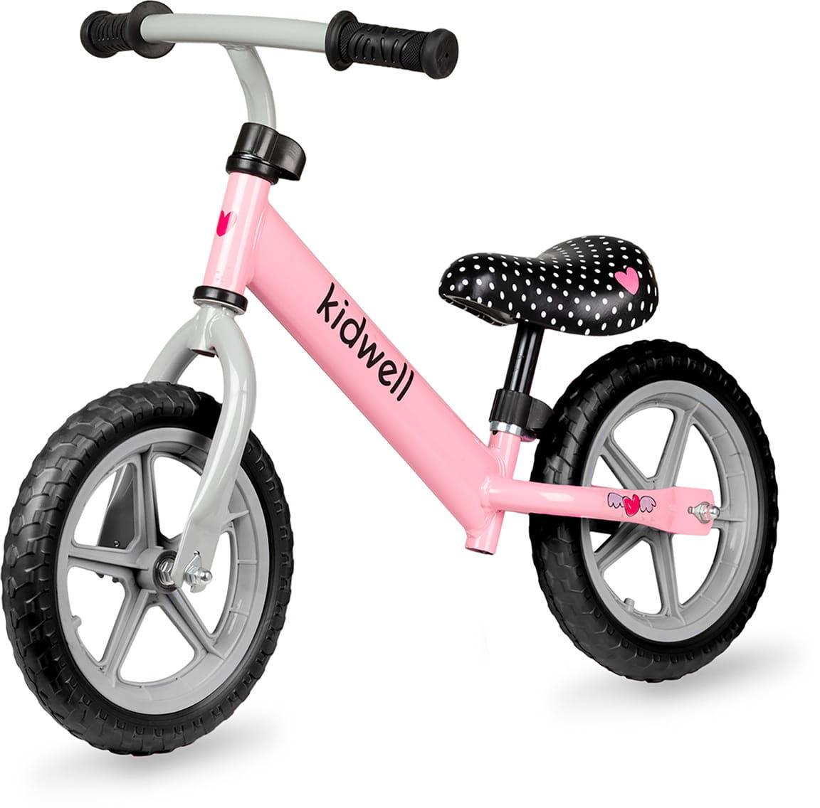 Rowerek biegowy REBEL pink dla dziewczynki