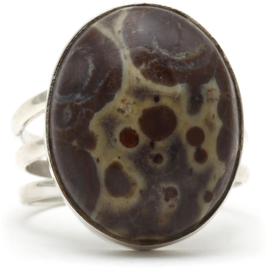Kuźnia Srebra - Pierścionek srebrny, rozm. 17, Jaspis, 6g, model