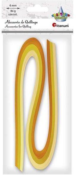 Paski do quillingu 6mm żółte 120szt - Titanum