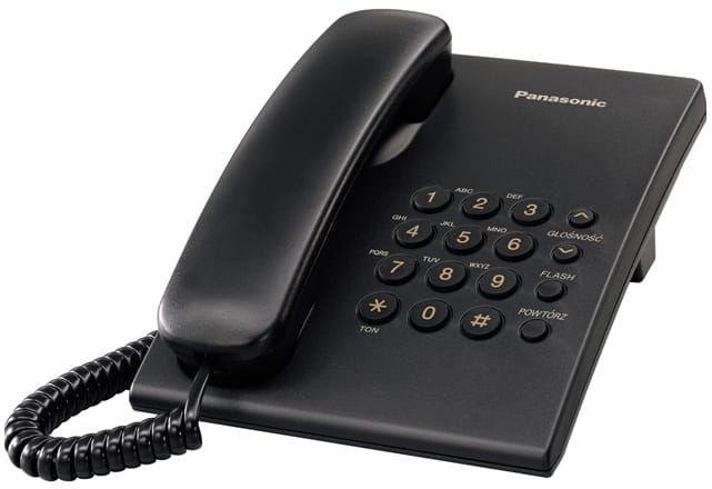 Panasonic KX-TS500PDB - telefon przewodowy - czarny