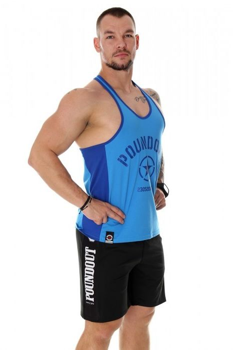Poundout tank top Stringer FORCE niebieski