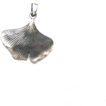 Zawieszka srebrna - Miłorząb mały szary