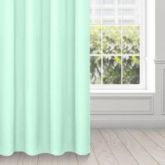 Zasłona gotowa EVITA z gładkiej tkaniny 140 X 250 cm jasnomiętowy