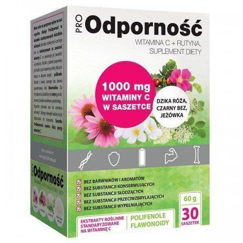 DR. GAJA ProOdporność, 30 saszetek, 60 g, Witamina C 1000 mg + Rutyna
