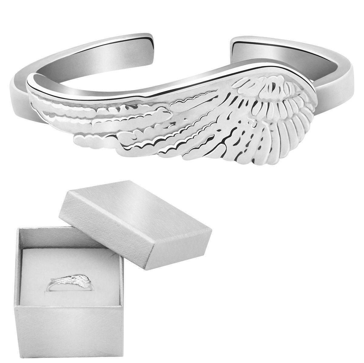 Pierścionek uniwersalny skrzydło srebro 925