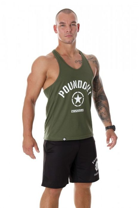 Poundout tank top Stringer KHAKI