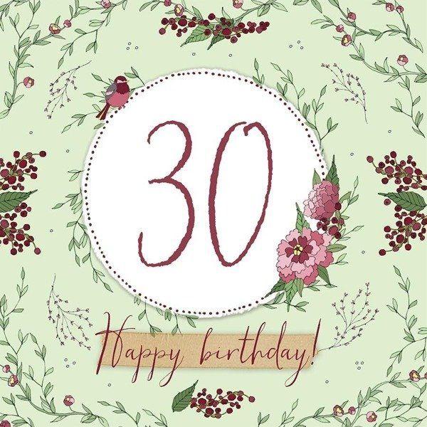 Karnet Swarovski kwadrat CL2230 Urodziny 30