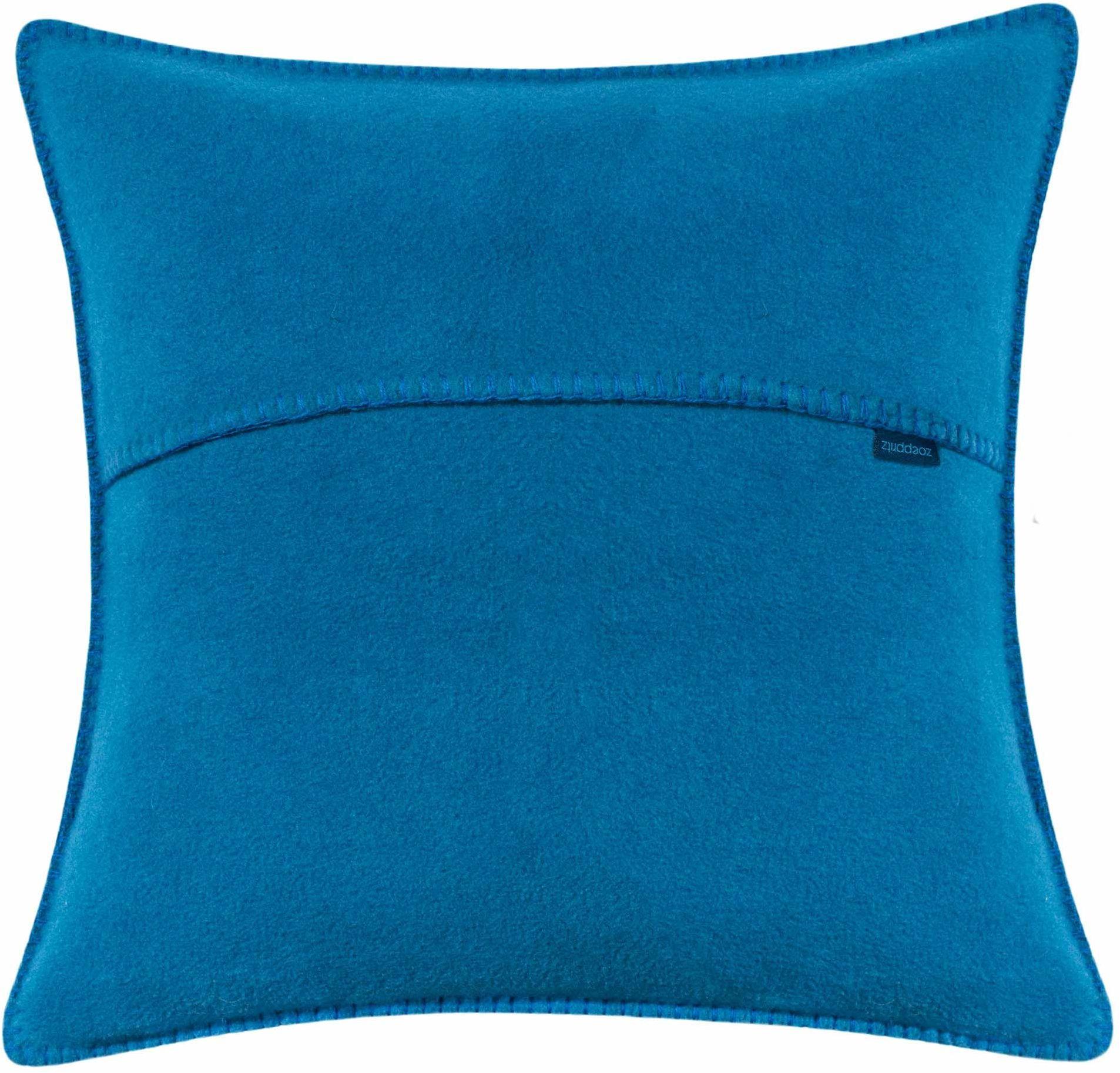 zoeppritz since 1828 miękki polar poduszka ozdobna, poduszka dekoracyjna, 65% poliester, 35% wiskoza, 760 curacao, 40 x 40 cm