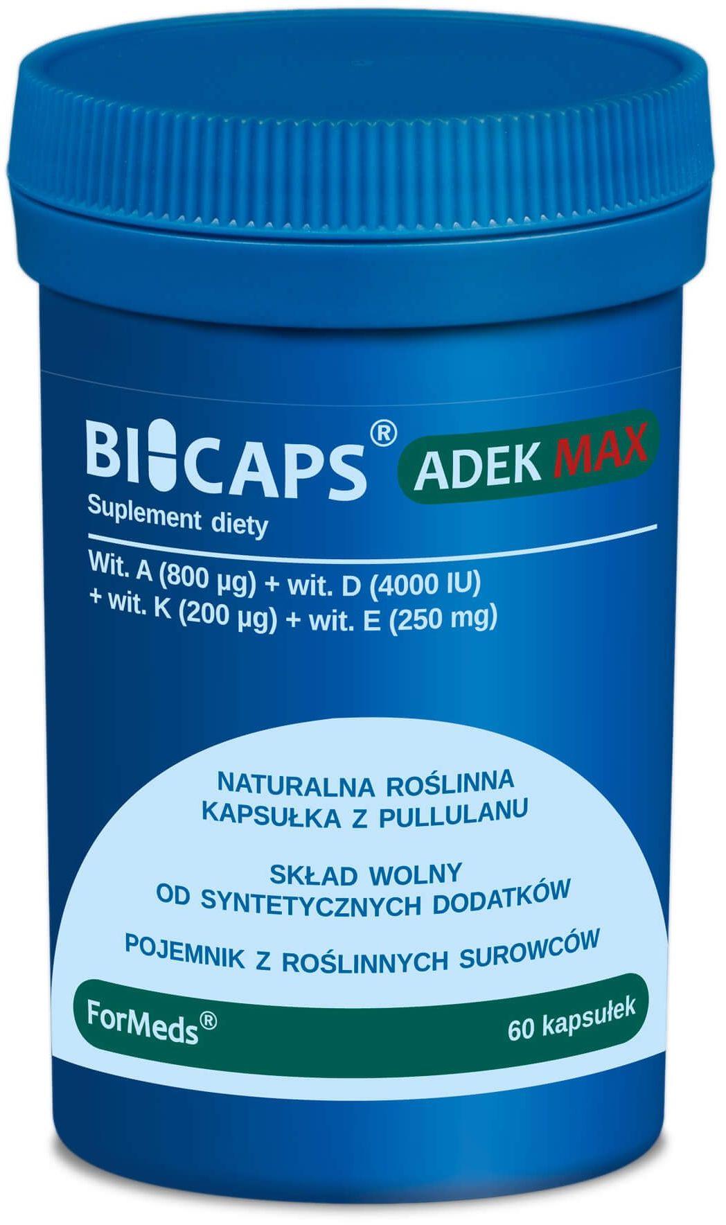 BICAPS ADEK MAX Zestaw Naturalnych Witamin (60 kaps) ForMeds