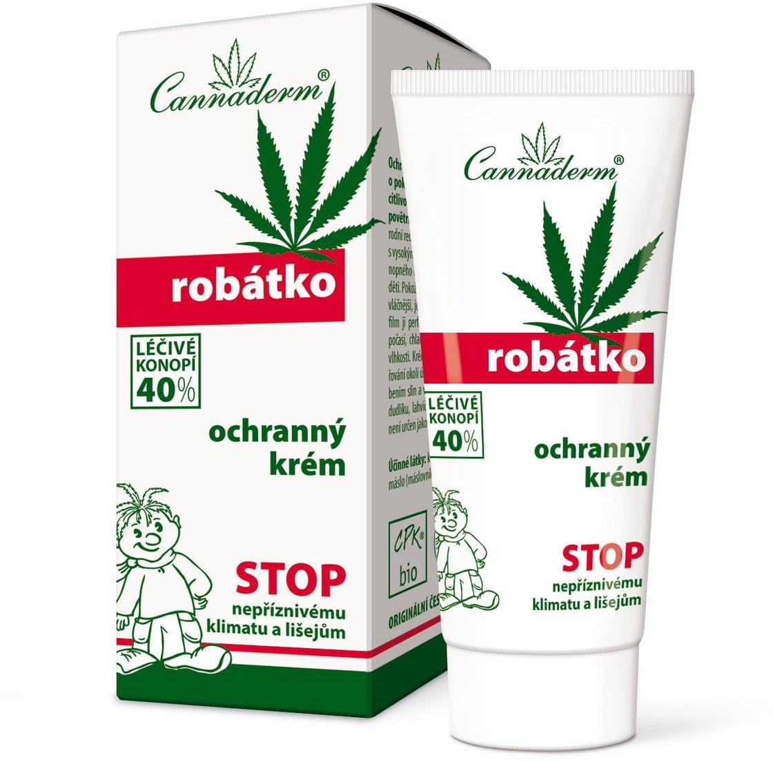 Robatko Krem ochronny dla dzieci 40% oleju z konopi 50g