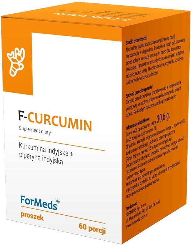 F-Curcumin Kurkumina + Piperyna Indyjska 30,6 g ForMeds
