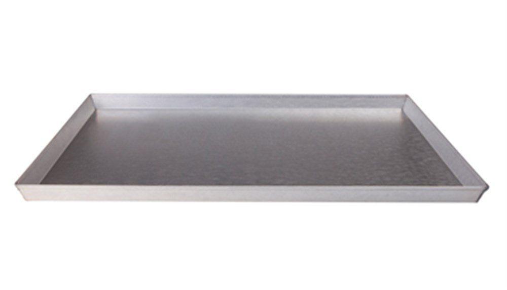 Pentole Agnelli foremka do ciasta - pizza prostokątna patelnia do pieczenia 40 x 30 x 3 cm, folia aluminiowa, srebrna, 40 x 30 cm