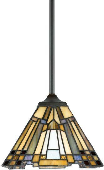 Lampa wisząca witrażowa TIFFANY INGLENOOK QZ/INGLENOOK/MP - Elstead Lighting  Skorzystaj z kuponu -10% -KOD: OKAZJA