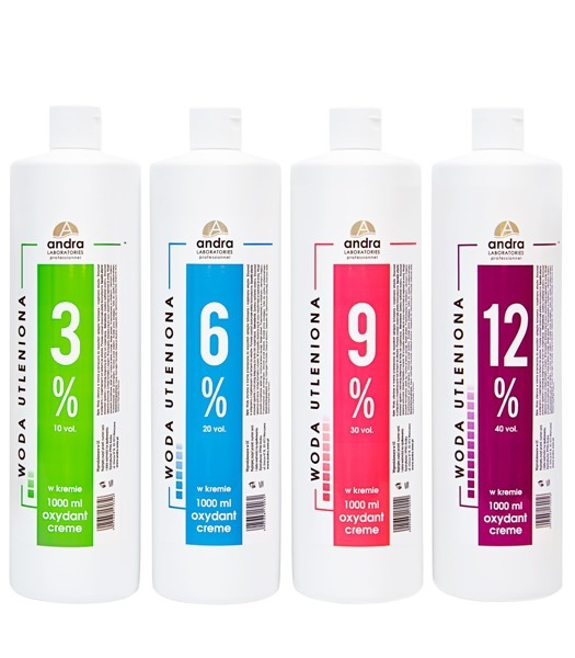 ANDRA woda utleniona oxydant krem 6% 1000ml