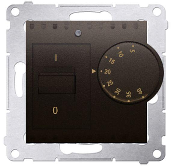Simon 54 Regulator temperatury z czujnikiem wewnętrznym brąz mat DRT10W.02/46