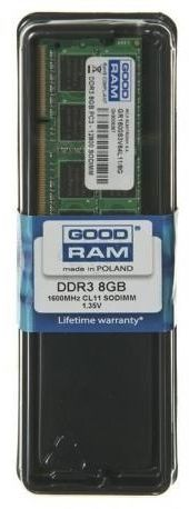 GOODRAM SODIMM DDR3 8GB/1600 CL11 1,35V Low Voltage
