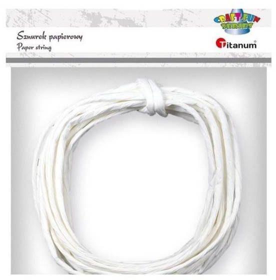 Sznurek papierowy 3.5mmx5m biały - Titanum