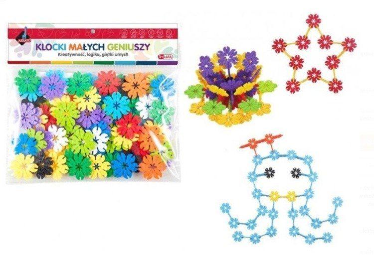 Klocki - kwiatki 80 elementów - Askato