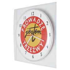 Zegar ścienny LOGO kwadrat