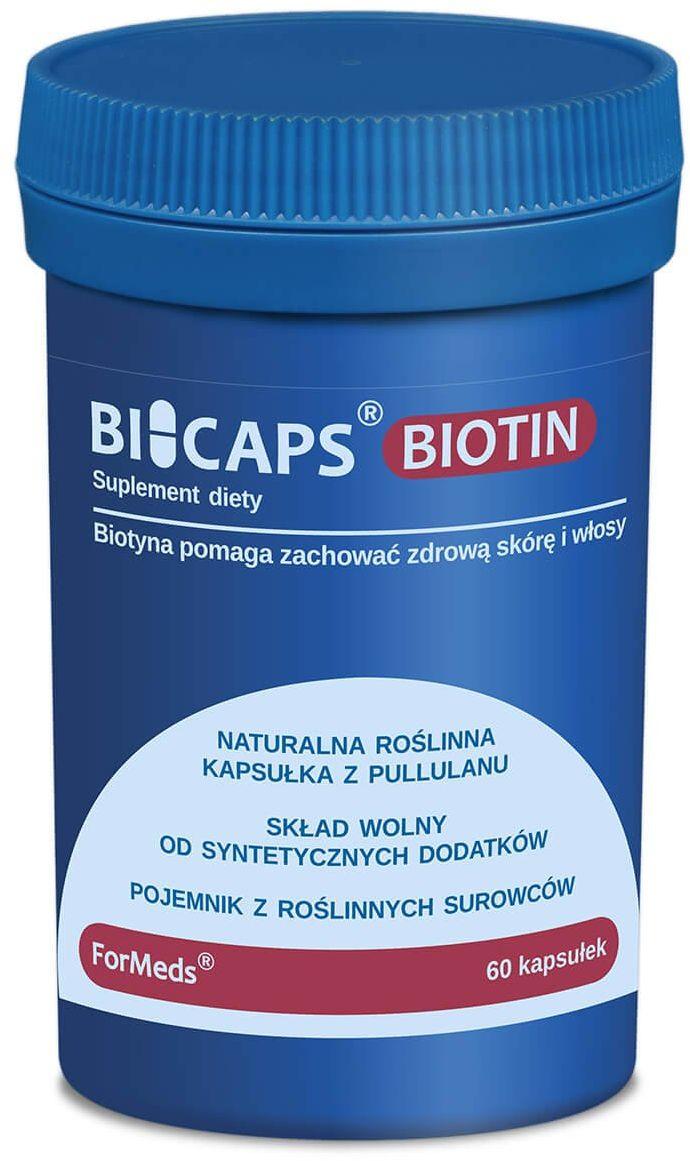 BICAPS BIOTIN Biotyna Witamina B7 2500 mcg (60 kaps) ForMeds