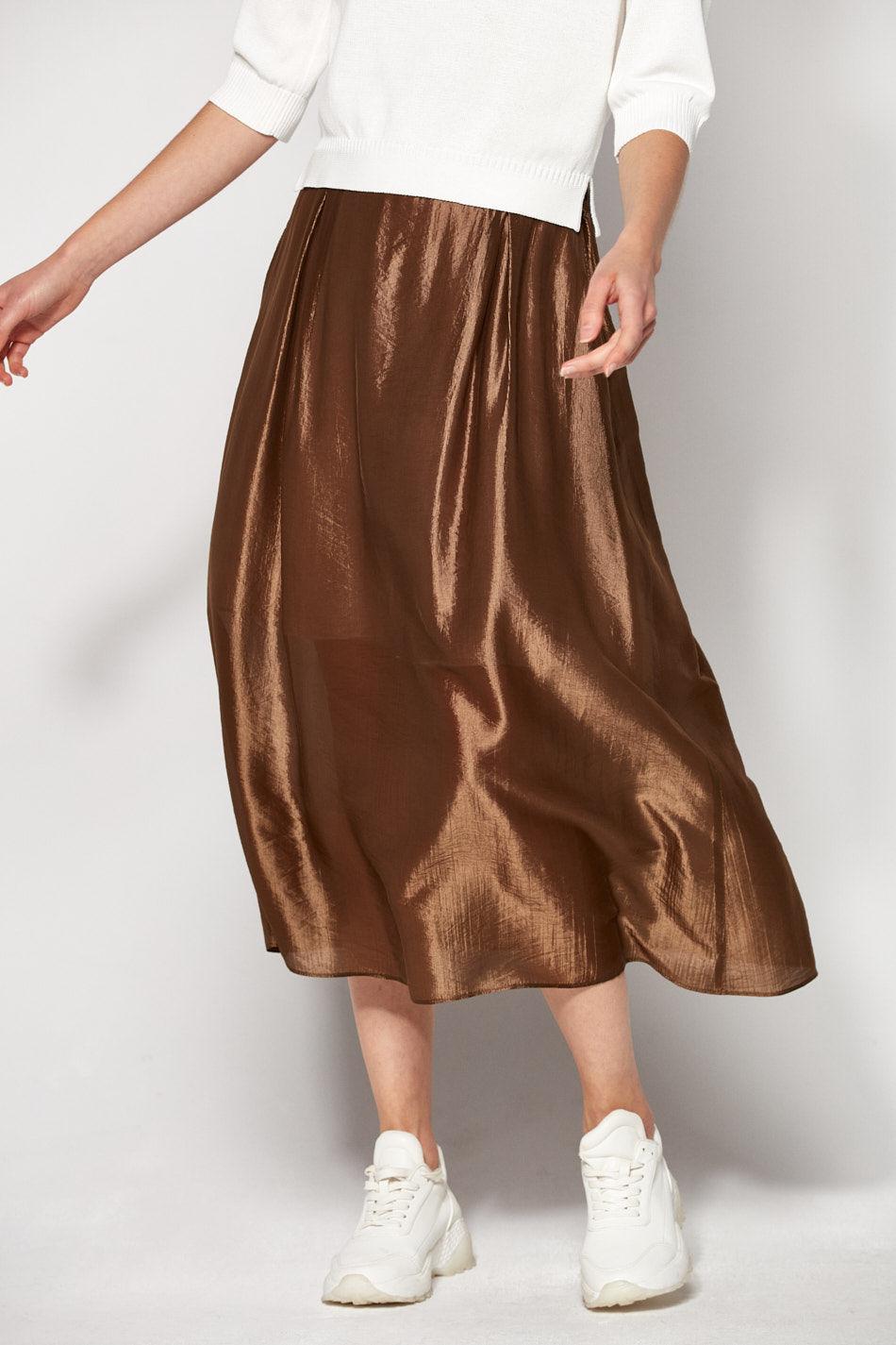 Spódnica w kolorze oliwkowym