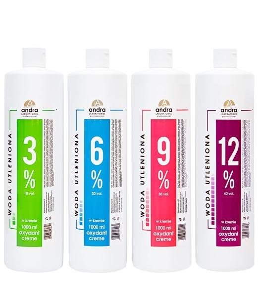 ANDRA woda utleniona oxydant krem 3% 1000ml