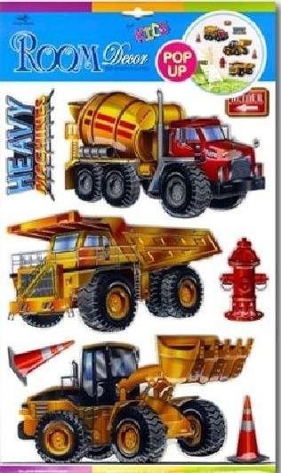 Dekoracja ścienna 3D samochody ciężarowe