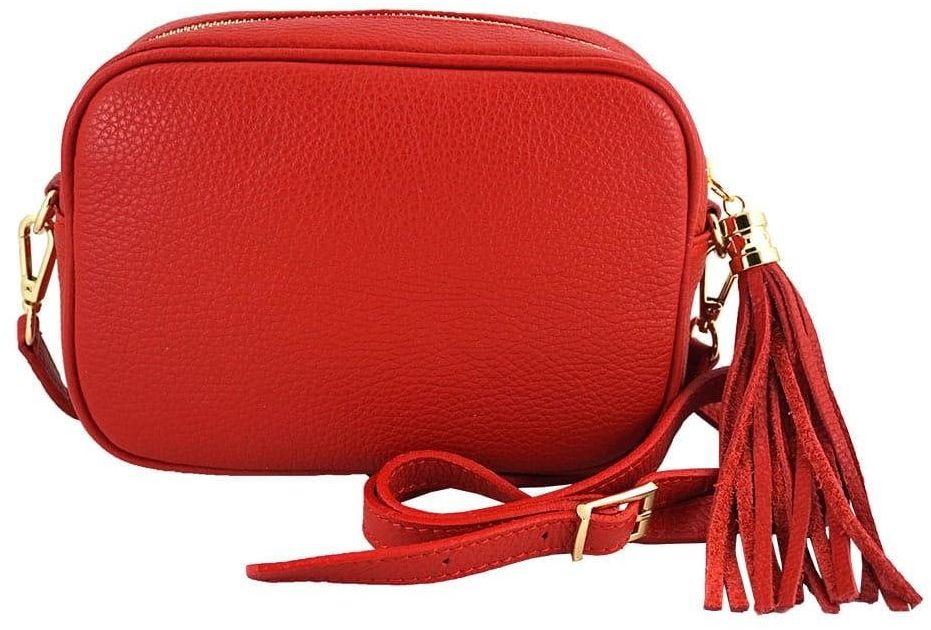 Małe torebki listonoszki ze skóry naturalnej - Czerwona jasna - Czerwony jasny
