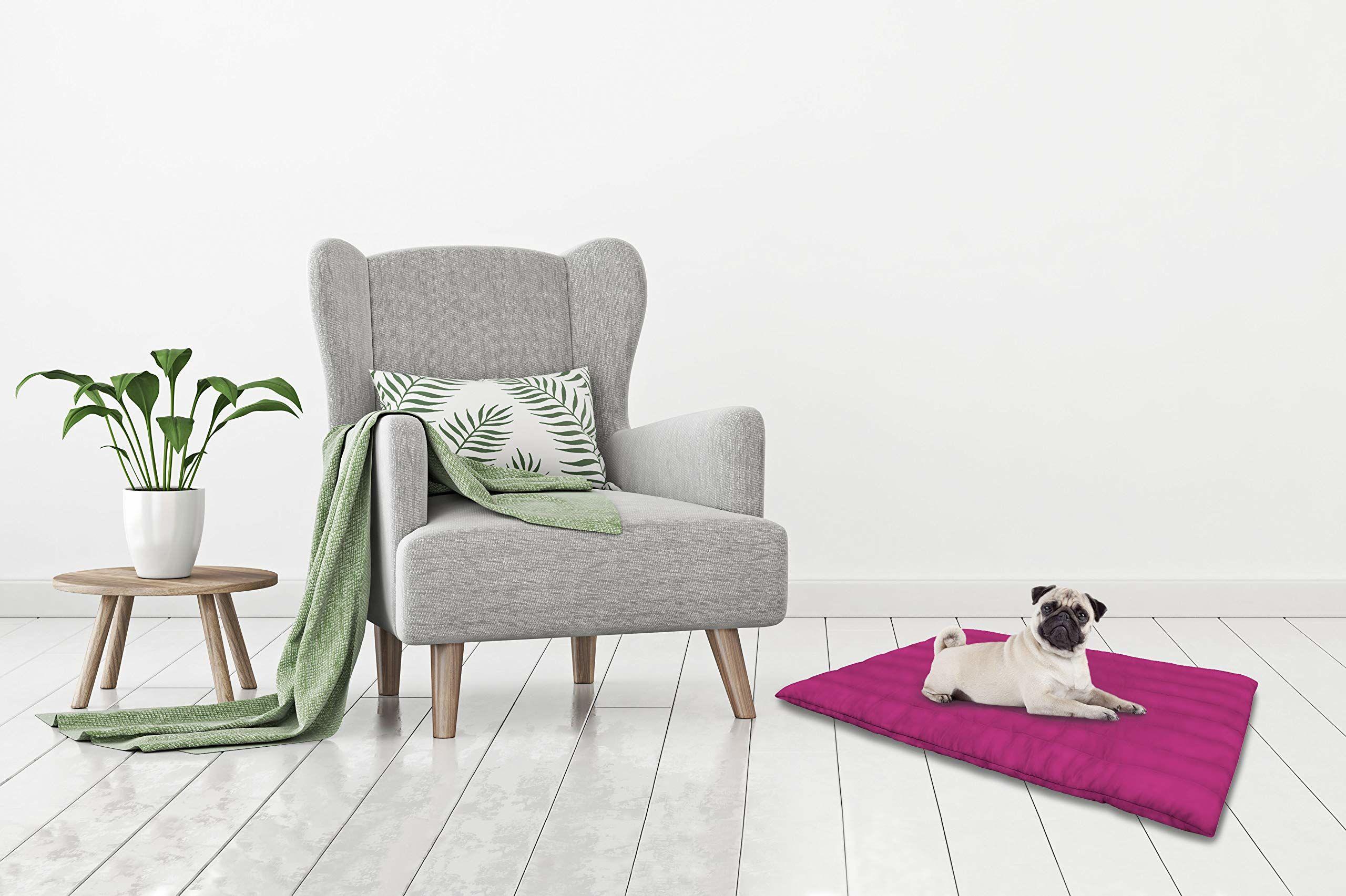 Elegancka poduszka do prania dla psa 60 x 100 cm fuksja, fuksja