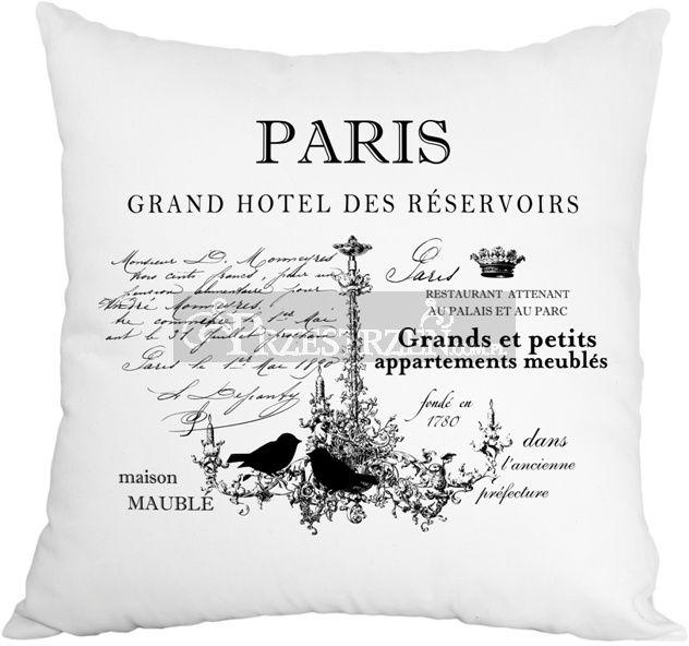 PODUSZKA OZDOBNA FRENCH HOME - PARIS BIEL