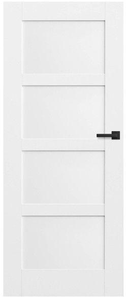 Drzwi bezprzylgowe pełne Connemara 80 lewe kredowo-białe