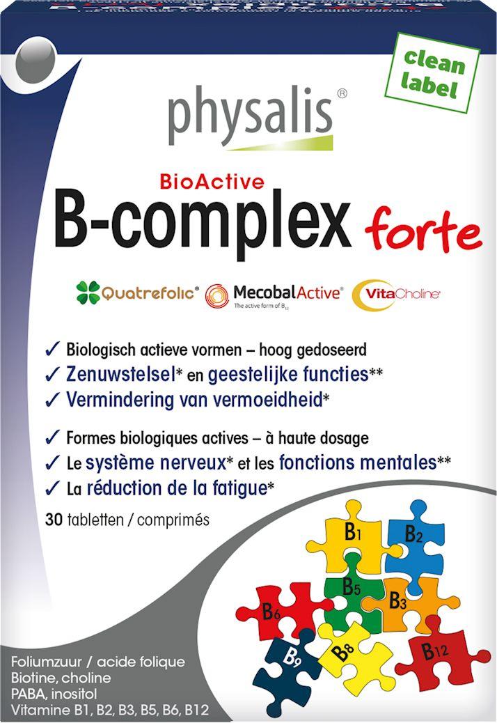 Witamina b kompleks forte 30 tabletek (25 g) - physalis