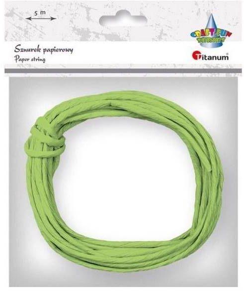 Sznurek papierowy 3.5mmx5m zielony - Titanum