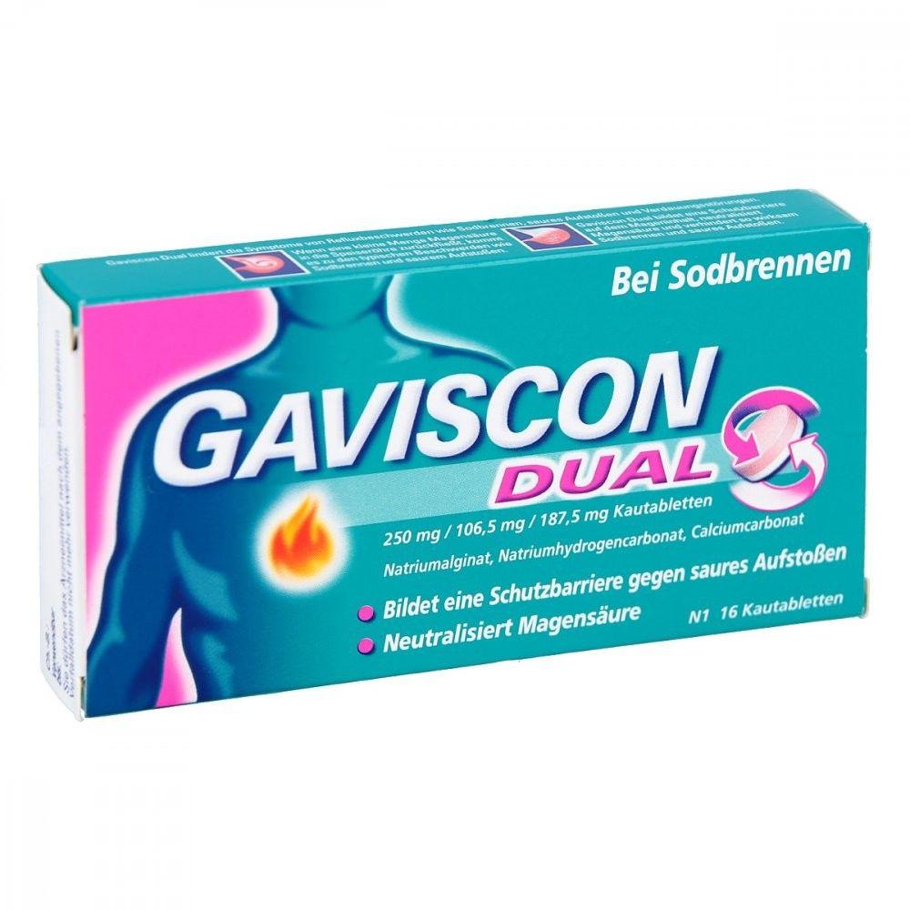 Gaviscon Dual 250mg/106,5mg/187,5mg tabletki do ssania