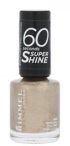 Rimmel London 60 Seconds Super Shine lakier do paznokci 8 ml dla kobiet 809 Darling, You Are Fabulous!