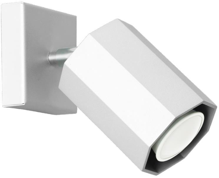 Lampex Hex 744/K BIA kinkiet lampa ścienna nowoczesna oprawa oświetleniowa biały metal GU10 1x40W 17cm
