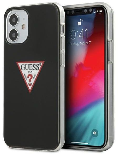 """Guess GUHCP12SPCUCTLBK iPhone 12 5,4"""" czarny/black hardcase Triangle Collection Guess / GUE000856"""