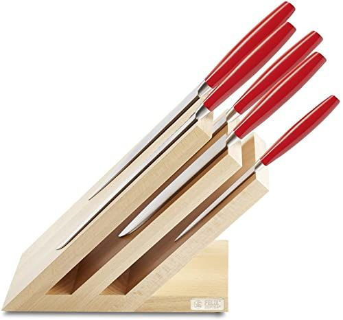 Felix Solingen Lady''s Line Red zestaw noży, stal, czerwony/brązowy, 39,5 x 22 x 12 cm, 6 sztuk
