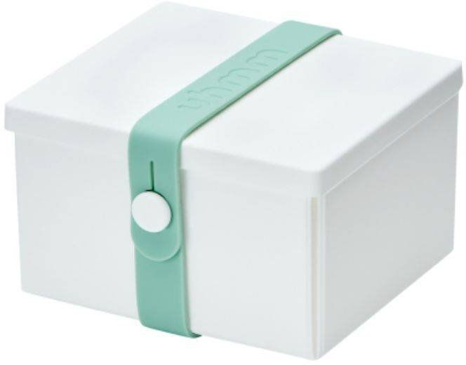 No.02 lunchbox składany z opaską Uhmm - white / mint - white/mint