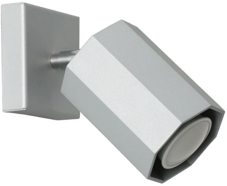 Lampex Hex popiel 744/K POP kinkiet lampa ścienna nowoczesna oprawa oświetleniowa popielaty metal GU10 1x40W 17cm