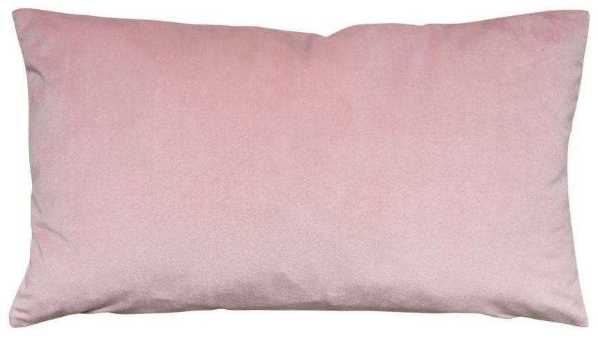 Poduszka welurowa Dubbo różowa 50 x 30 cm Inspire